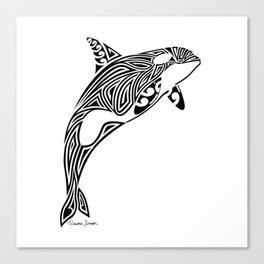 Tribal Orca Canvas Print