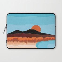 Landscape of Naples with volcano Vesuvio Laptop Sleeve