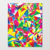 rave Canvas Prints featuring Rave Paint by Mariah Williams
