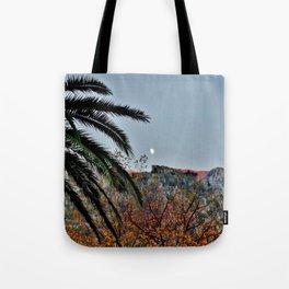 Moon Over Kotor Tote Bag