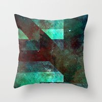 discount Throw Pillows featuring Emerald Nebulæ  by Aaron Carberry