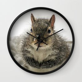 Adorable Praying Squirrel..Feed ME!! Wall Clock