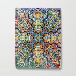 Urban Street Art Mandala  Metal Print