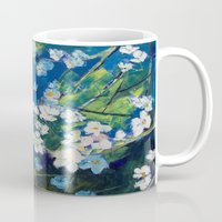 cherry blossoms Mugs featuring Cherry Blossoms by Michael Creese
