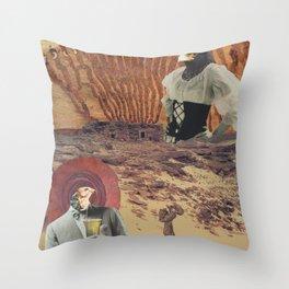 cranky desert birds Throw Pillow