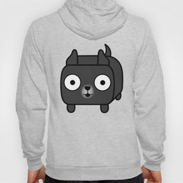 Pitbull Loaf - Black Pit Bull with Cropped Ears Hoody