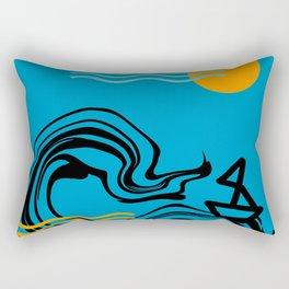 Boat and ocean Rectangular Pillow