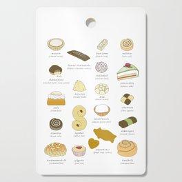 Swedish Cakes & Cookies Cutting Board