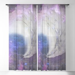 Infinite Galaxy Sheer Curtain