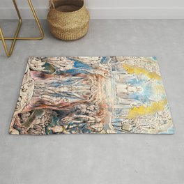 """William Blake """"The Day of Judgment"""" Rug"""