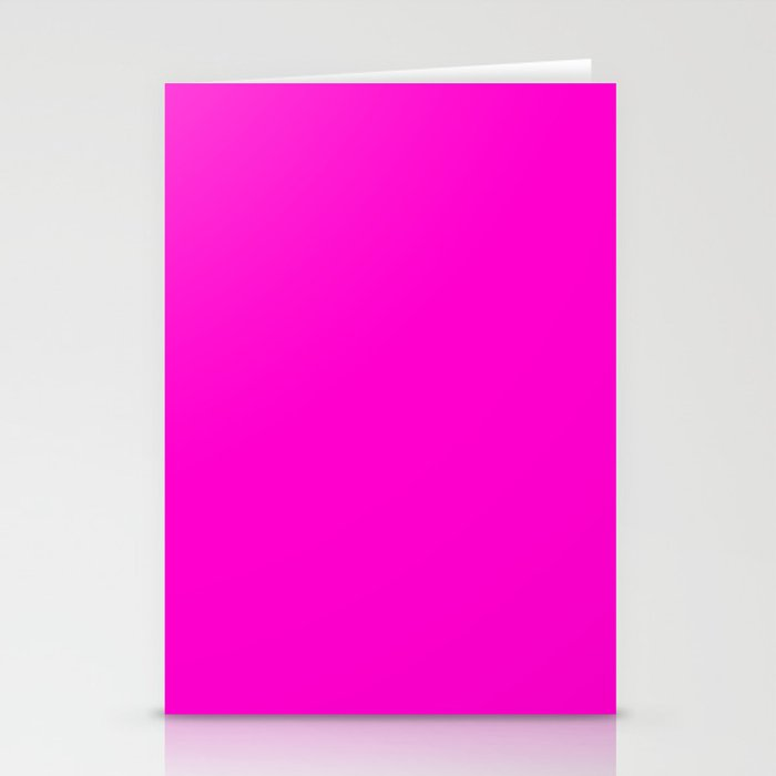 Pink neon color bright summer Stationery Cards