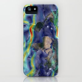 A Portrait of Global Winds iPhone Case