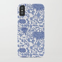 Chinoiserie Vines in Delft Blue + White iPhone Case
