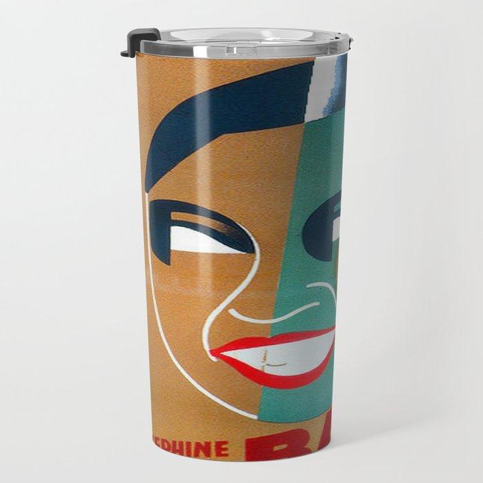 Josephine Baker Vintage Poster for Stockholm Travel Mug