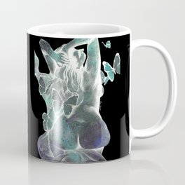 Sugar Coated Sour: Negative (nude curvy pin up with butterflies) Coffee Mug