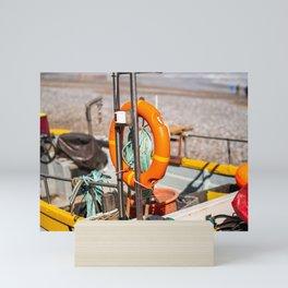 Fishing boat on the Norfolk Coast Mini Art Print