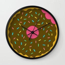 Chocolate Donut Wall Clock