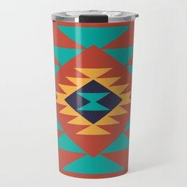 Southwest Indian Tribal Abstract Pattern Travel Mug