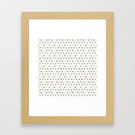 coffee cups pattern Framed Art Print
