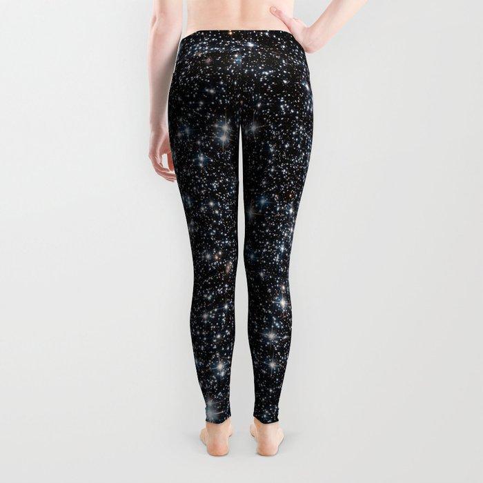 Stars : subtle black blue gold Leggings
