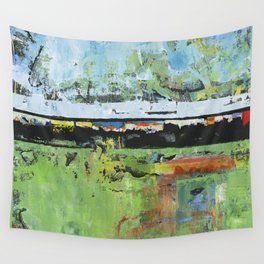 Salvation Green Abstract Contemporary Artwork Painting Wall Tapestry