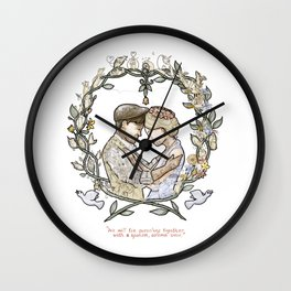 """Illustration from the video of the song by Wilder Adkins, """"When I'm Married"""" (no names on it) Wall Clock"""