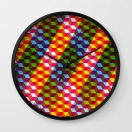 Shifting cubes Wall Clock