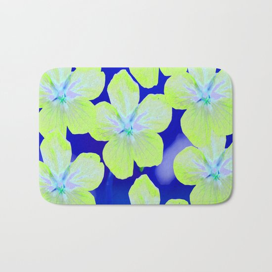 Retro Flowers II Bath Mat