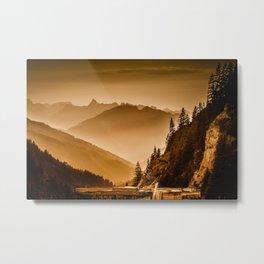 Mountains Metal Print