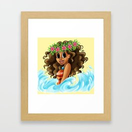 Polynesian Princess Framed Art Print