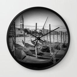 VENICE Grand Canal and St Mark's Campanile | Monochrome Wall Clock