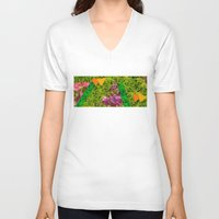 tropical V-neck T-shirts featuring Tropical by Lizzy Koury