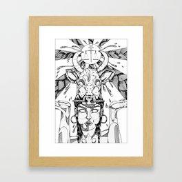 ethnicgirl Framed Art Print