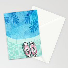 Go Time - resort palm springs poolside oasis swimming athlete vacation topical island summer fun Stationery Cards
