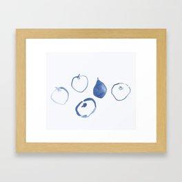 Pommes - Navy Framed Art Print