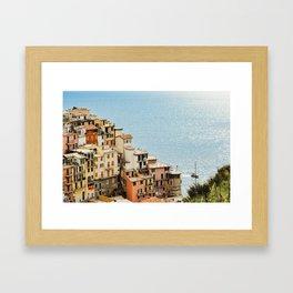 riomaggiore coast Framed Art Print