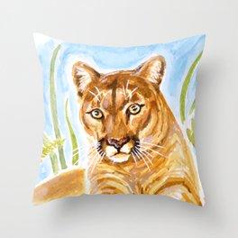Reise Cougar Throw Pillow