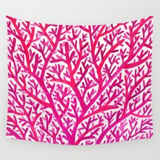 Fan Coral – Pink Ombré Wall Tapestry