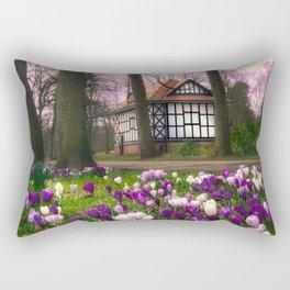 Crocuses at Thornes Park in Wakefield  Rectangular Pillow