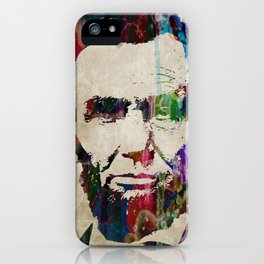 Abraham Lincoln Watercolor Modern Abstract GIANT PRINT ART iPhone Case