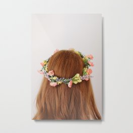 Flower Girl Metal Print