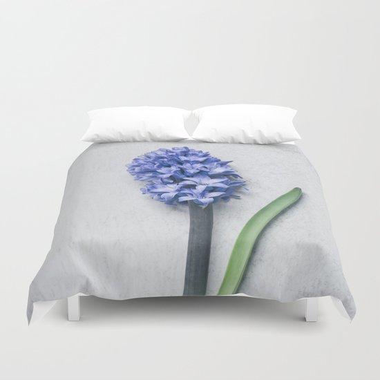 Blue Hyacinth Duvet Cover