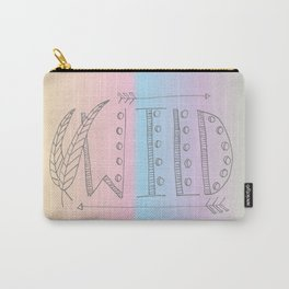 Wild Print With Feathers Carry-All Pouch