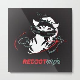 Red Dot Ninja (revised) Metal Print