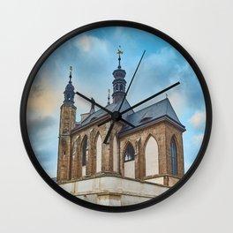 Sedlec Ossuary Exterior Photo Art, Skull Bone Church Wall Clock