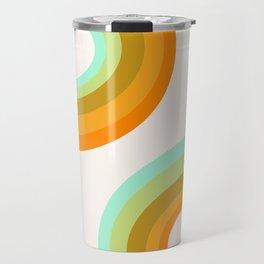 Dy-no-mite - retro throwback 70s style vibes 1970s art decor minimalist surfer Travel Mug