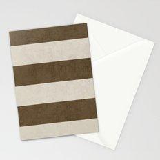 vintage brown stripes Stationery Cards