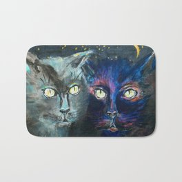 They Meet in the Night (Cats) Bath Mat
