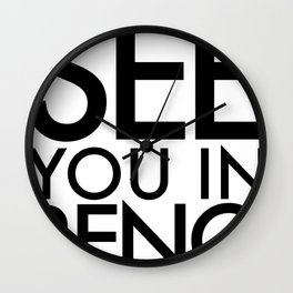 See You In Reno - BIG Wall Clock