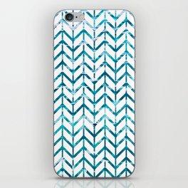 Watercolor Chevron iPhone Skin